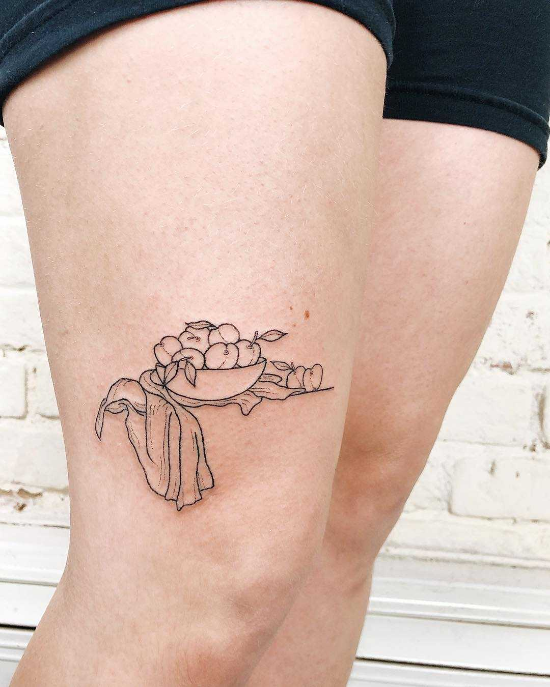 Fruit bowl tattoo by Kelli Kikcio