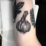 Garlic tattoo by Deborah Pow
