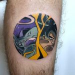 Goku and Frieza tattoo by Eugene Dusty Past