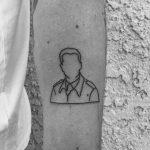 Grandad army portrait tattoo by Robbie Ra Moore