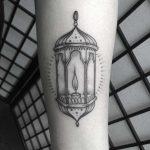 Grey lantern tattoo by Lozzy Bones