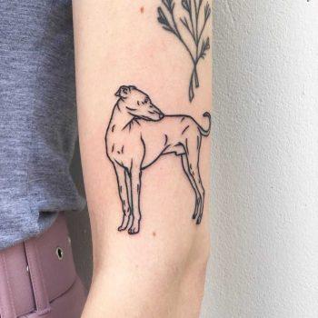 Greyhound by Hand Job Tattoo