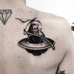 Grim reaper UFO by Pulled Poltergeist