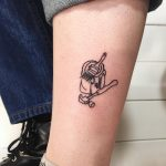 Hammer and paint tin tattoo by Suki Lune