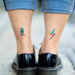 Hand-poked bolt and rocket by zzizziboy
