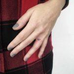 Hand-poked initials by Gianina Caputo