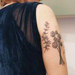Hand-poked thyme by Kelli Kikcio