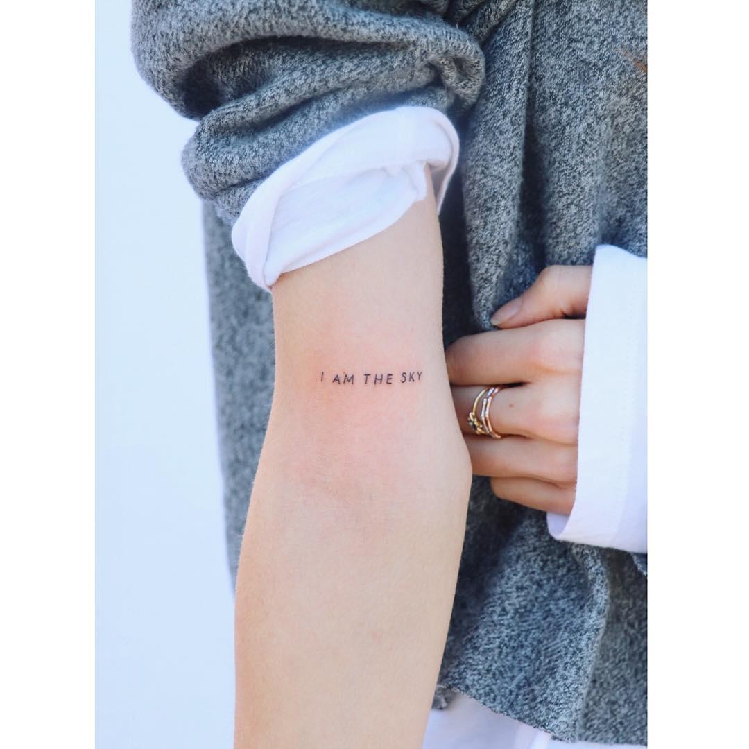 I am the sky tattoo by Zaya Hastra