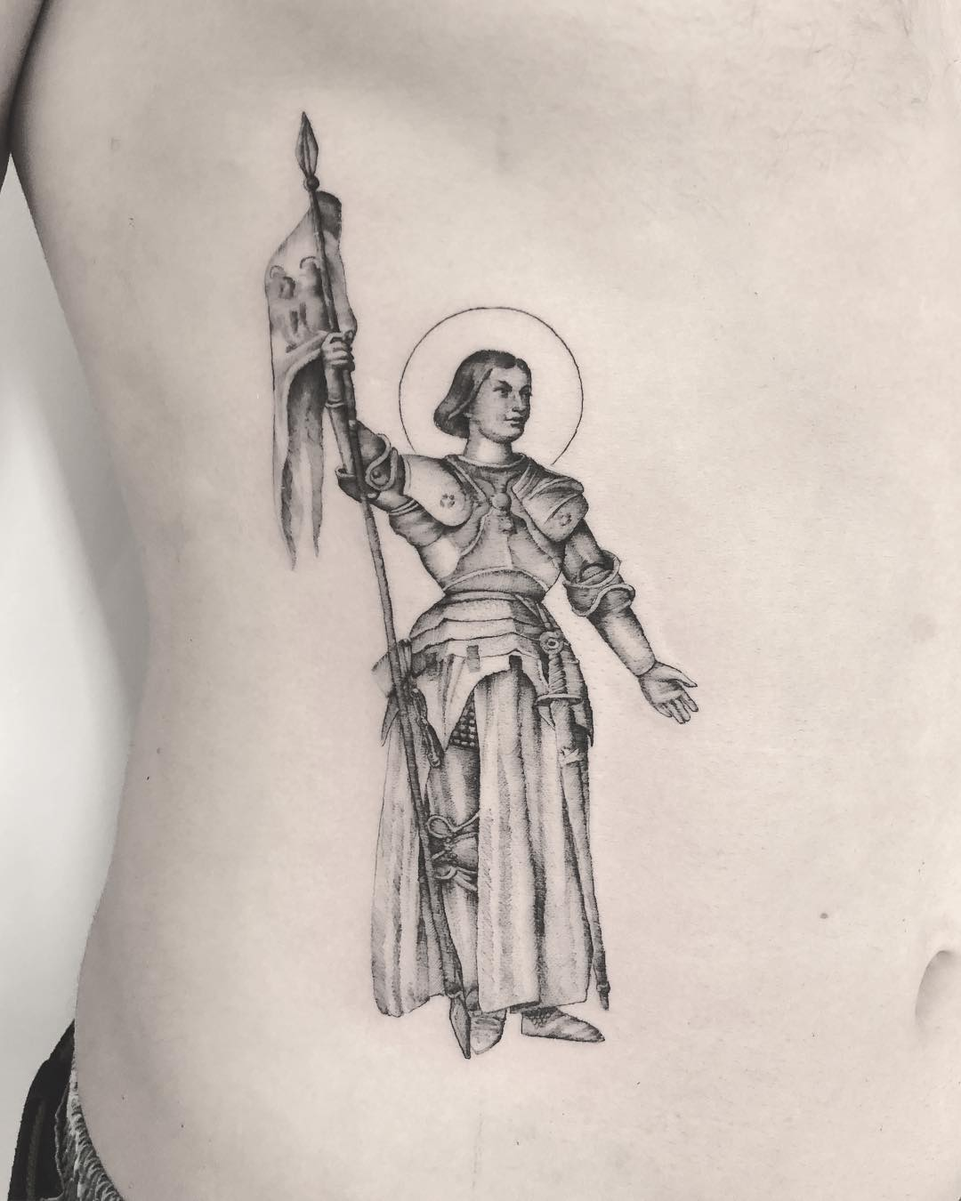 Jeanne d'Arc tattoo by Annelie Fransson
