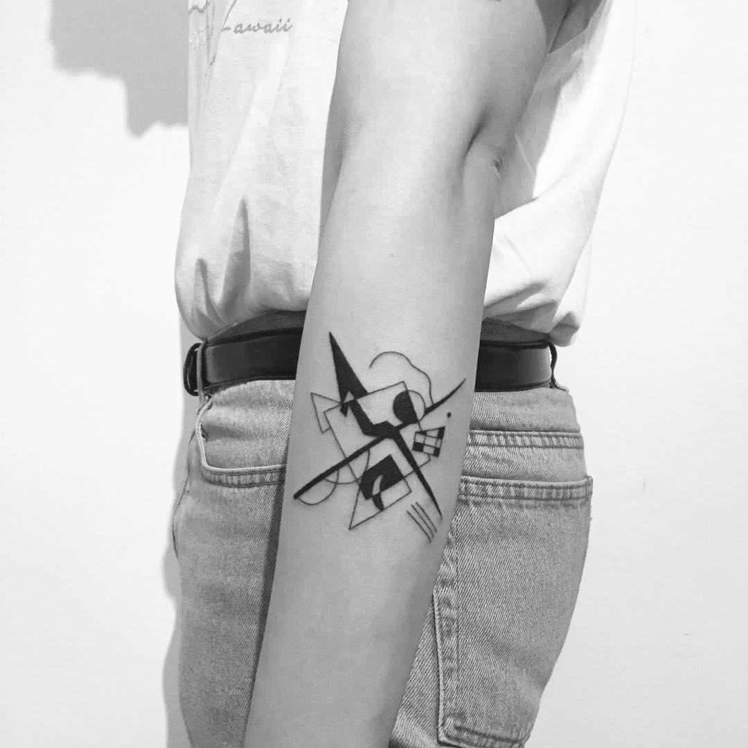 Kandinsky inspired tattoo by Chinatown Stropky