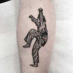 Karate kid tattoo by Deborah Pow