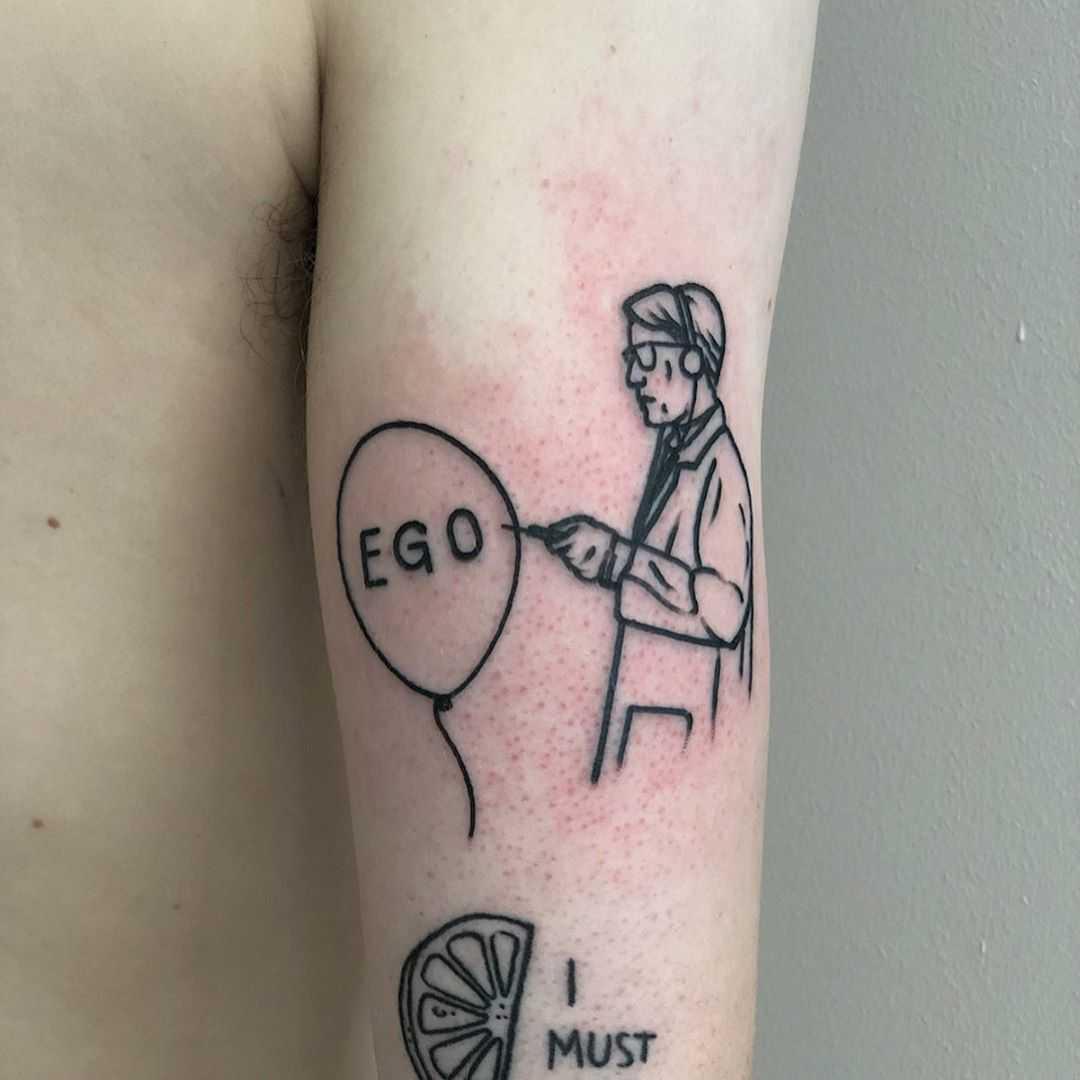 Kill your ego by Hand Job Tattoo