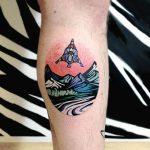 Lander spacecraft tattoo by Eugene Dusty Past