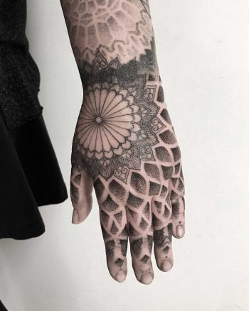 Left hand tattoo by tattooist Spence @zz tattoo