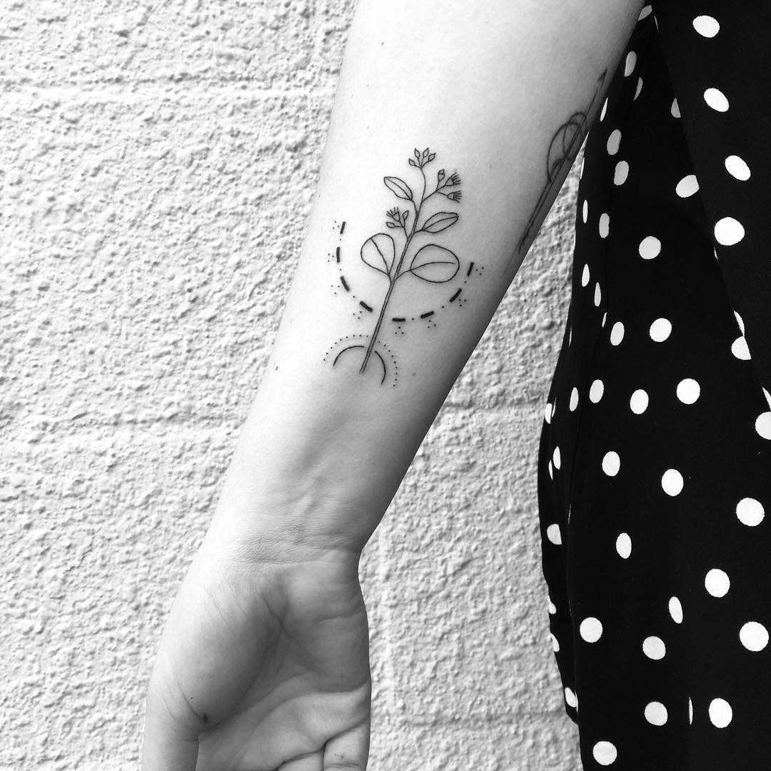 Little southern blue gum tattoo by Nadia Rose