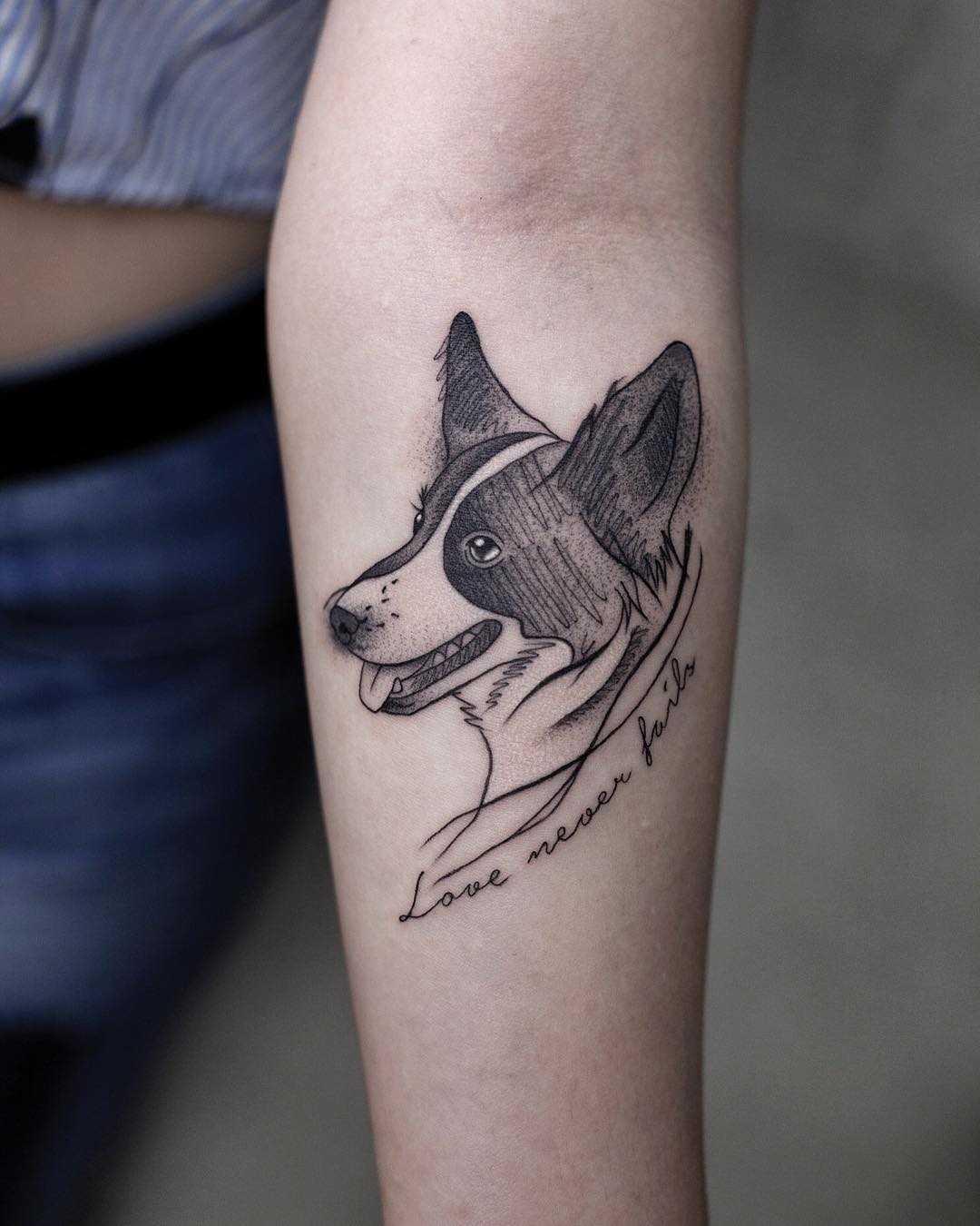 Love never fails tattoo by Aki Wong