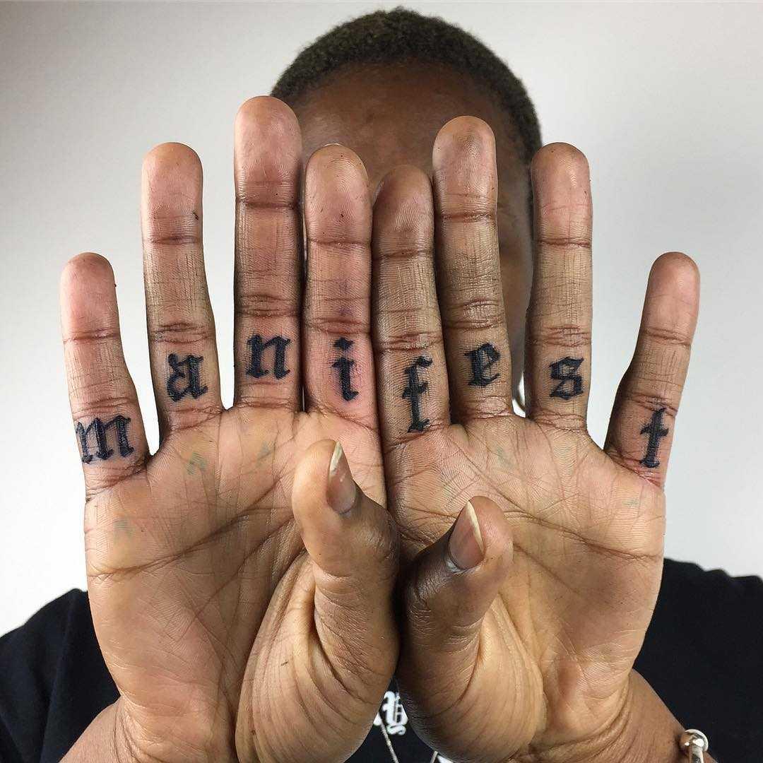 Manifest tattoo by Luke.A.Ashley