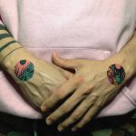 Matching sticker tattoos by Eugene Dusty Past