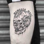 Memento mori and skull by Lozzy Bones