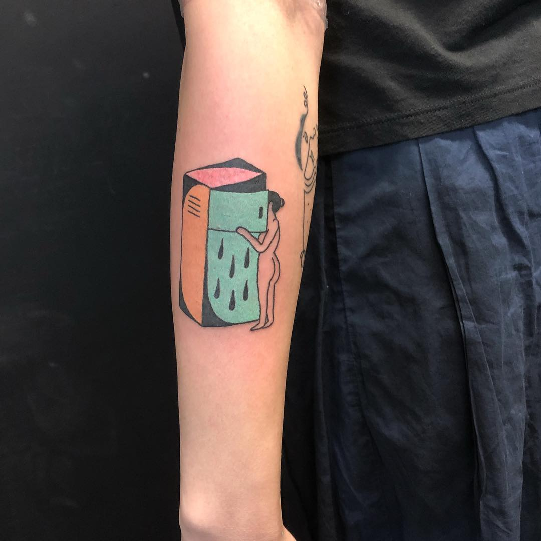 Midnight snack tattoo by yeahdope