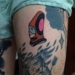 Moebius character tattoo by Eugene Dusty Past