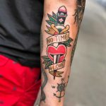 No time 4 love tattoo by Mike Nofuck