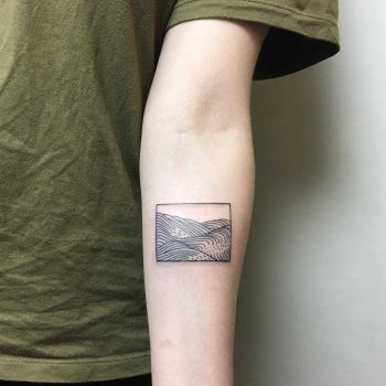Ocean view tattoo by Julim Rosa
