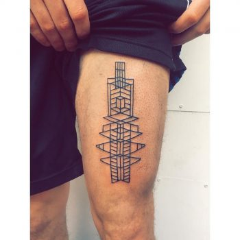 Outline stained glass tattoo by Zaya Hastra