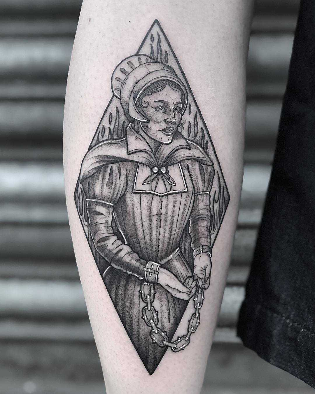 Pendle witch tattoo by Lozzy Bones