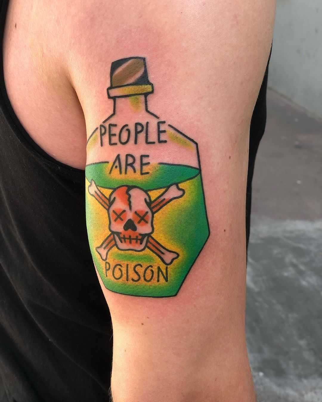 People are poison tattoo by Mike Nofuck