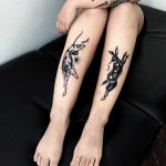 Rabbit and hound tattoos by Miedoalvacio