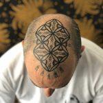 Sacred geometry on the head by Jaya Suartika