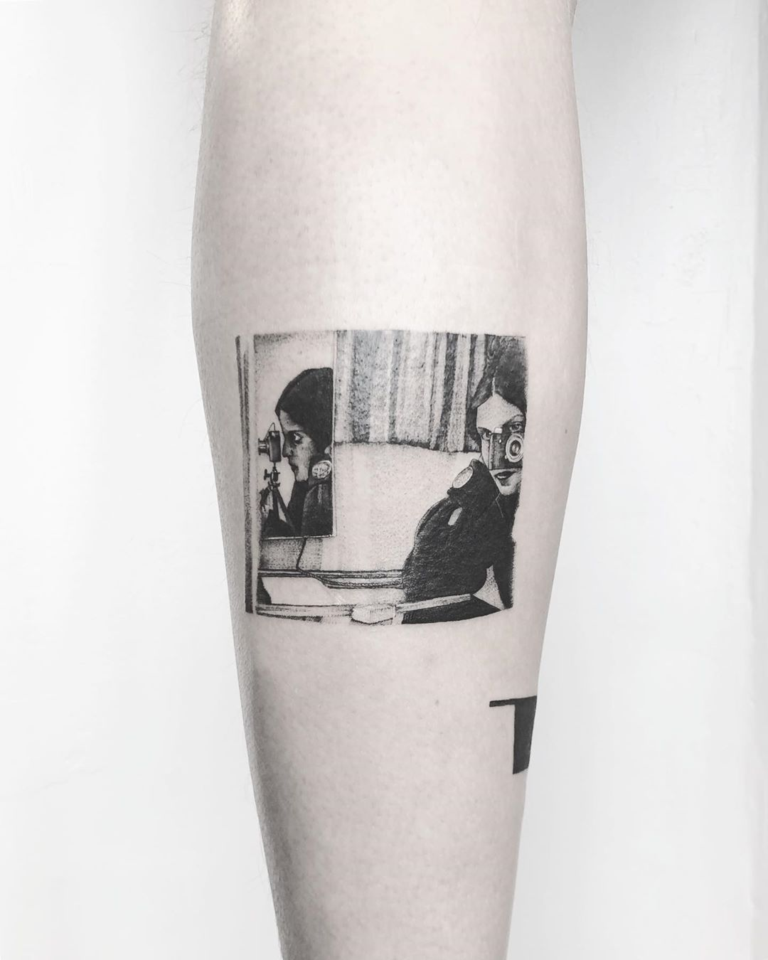Self-portrait tattoo by Annelie Fransson
