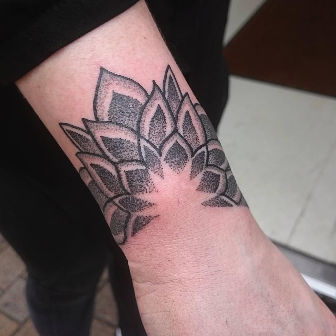Small mandala around the wrist bone by Luke.A.Ashley
