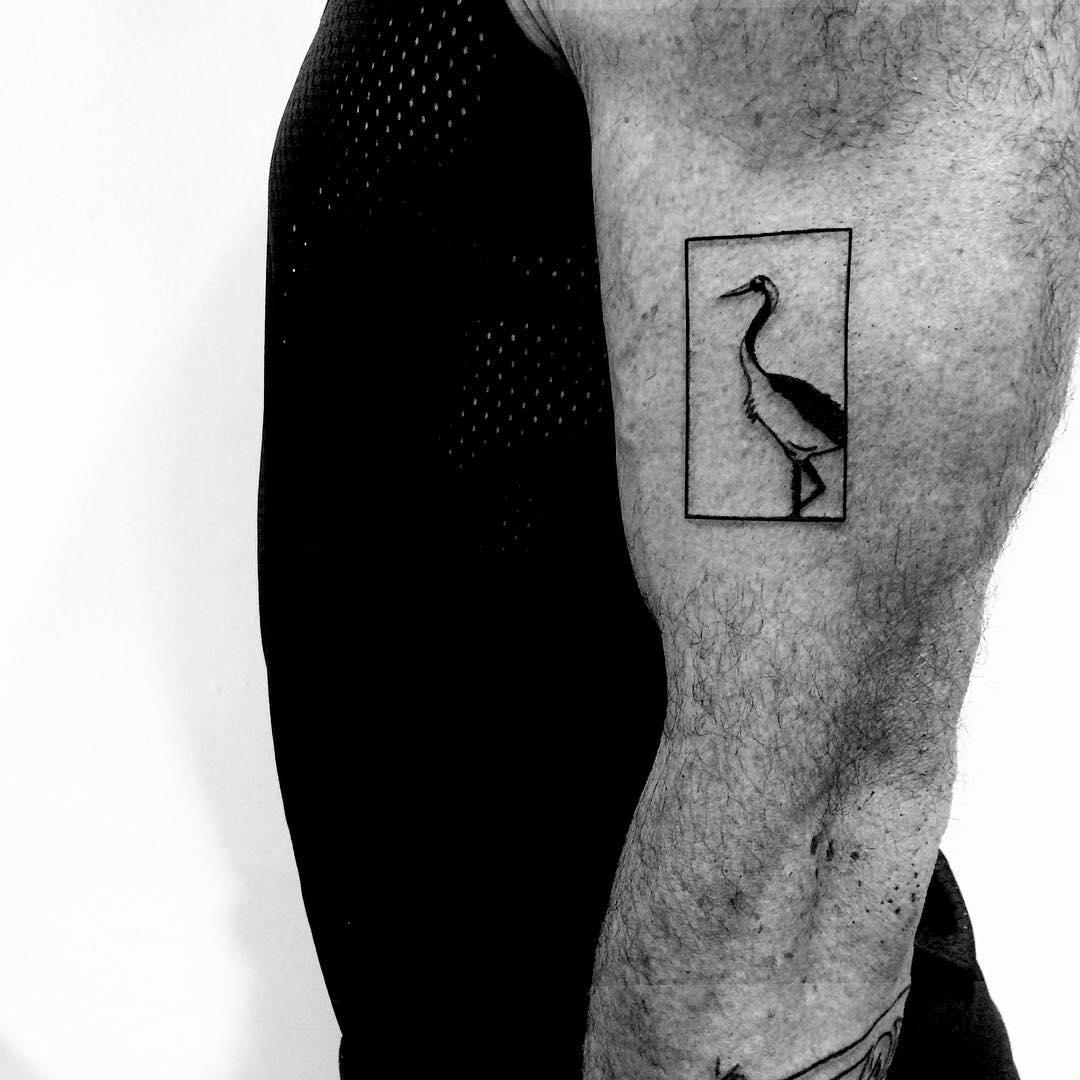 Stork tattoo by Chinatown Stropky