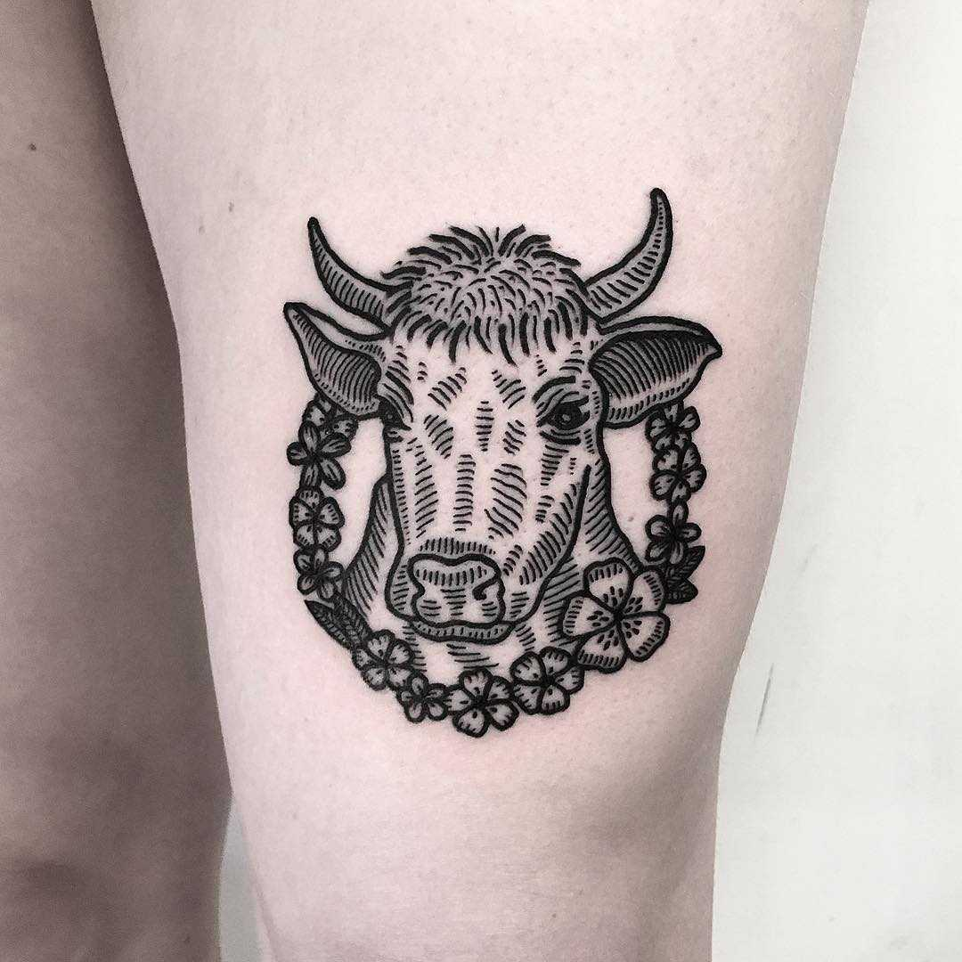 Tattoo for a vegan by Deborah Pow