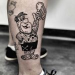 Tattooed Fred Flinstone by Mike Nofuck