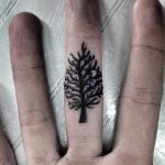 Tiny tree tattoo by Oliver Whiting