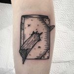 Tom Riddle's diary tattoo by Deborah Pow