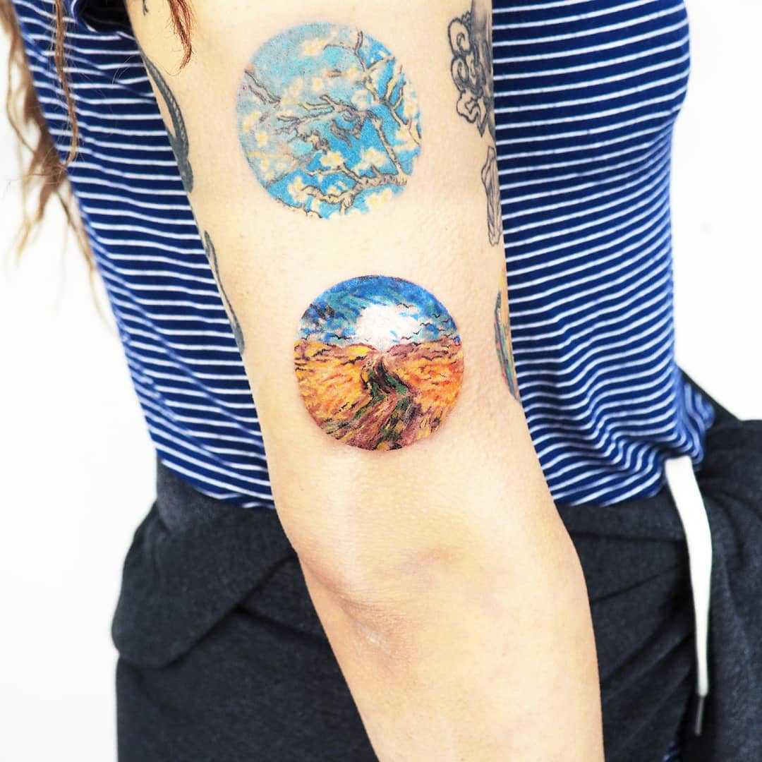 Van Gogh's 1890 Wheat Field with Crows by anton1otattoo
