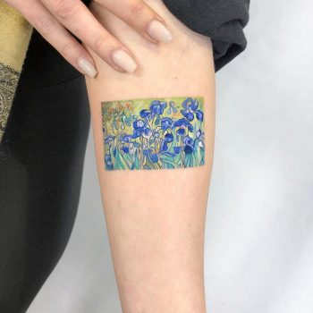 Van Gogh's irises tattooed by Eden Kozo