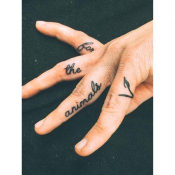 Vegan fingers tattoo by Zaya Hastra