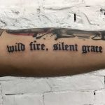 Wild fire, silent grace tattoo by Kevin Jenkins