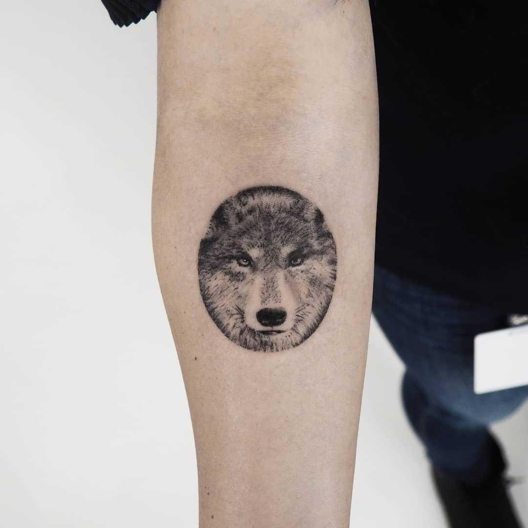 Wolf tattoo by anton1otattoo