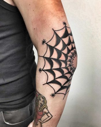 A black spider web by Mike Nofuck