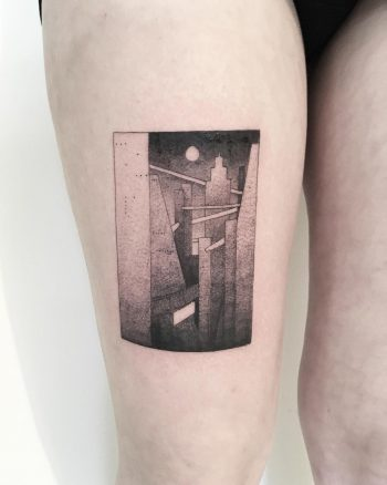 Abstrasct city by tattooist Spence @zz tattoo