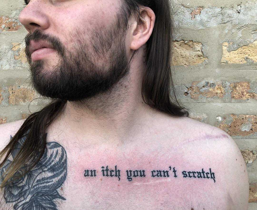 An itch you can't scratch tattoo by Tine DeFiore