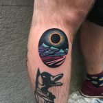 Black sun tattoo by Eugene Dusty Past