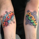 Boom Pow tattoos by Mike Nofuck