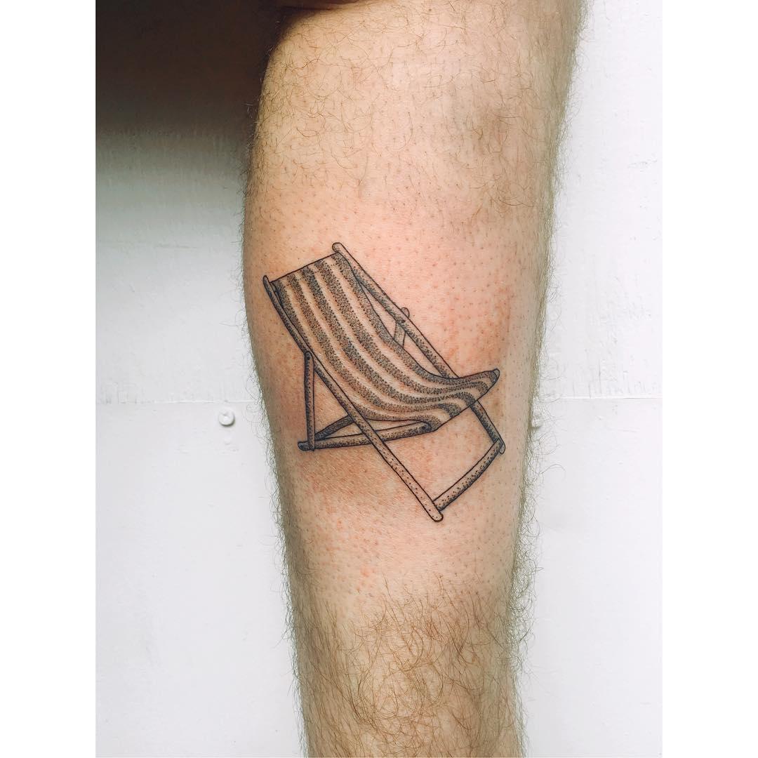 Classic Beach Folding Chair tattoo by Zaya Hastra